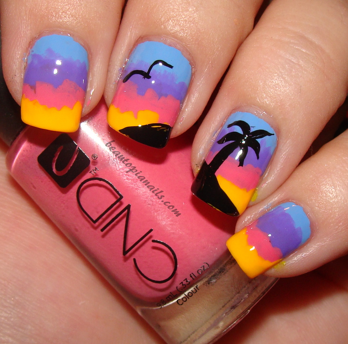 Source - 20 Sunset Nail Design Ideas